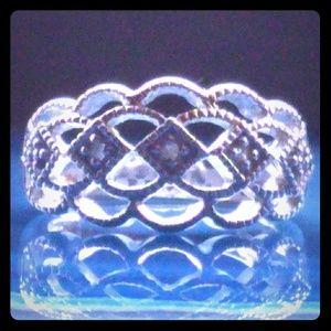 VNTG. Genuine Diamond Sterling Silver Ring
